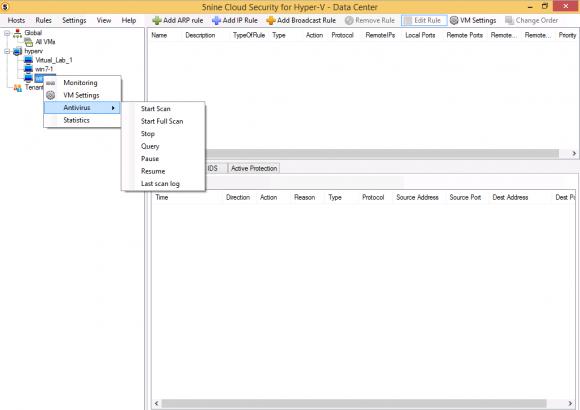 Die Antivirus-Engine kann auch pro VM ausgeführt werden.
