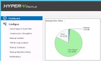 Dashboard von Altaro Hyper-V Backup