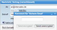 Das Anwender-Zertifikat ist über ein eigenes Passwort zusätzlich gesichert.