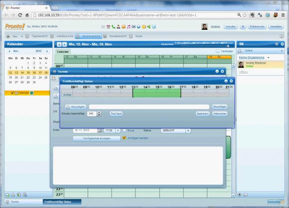 Pronto! ist ein vollwertiger Client für E-Mail, Groupware und IP-Telefonie, der im Browser und auf verschiedenen OS läuft.