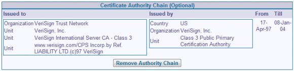Der CommuniGate Pro Administrator kann auch die CA Chain verwalten.