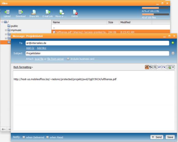 Für die interne Kommunikation müssen keine Dokumente als Anhang versendet werden,es genügt die Übermittlung einer eDisc-URL.
