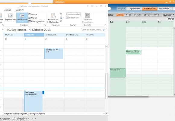 Dank MAPI-Connector bietet Outlook einen Funktionsumfang, der nicht hinter dem proprietären Client Pronto! zurücksteht.