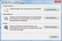 Setup für Mail in Outlook