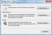 Setup für Mail in Outlook