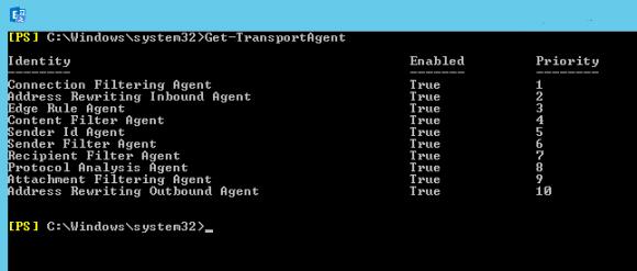 Status des Recipient Filter Agent abfragen mit PowerShell
