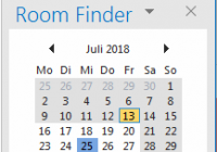 Raumfinder in Microsoft Outlook