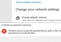 Fehler bei Netzwerkkonfiguration in der App Einstellungen