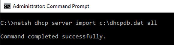 DHCP-Konfiguration mit netsh.exe importieren