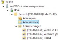 MMC Snap-in für DHCP