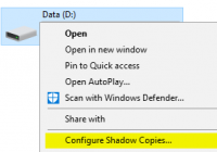 Volume Shadow Copy