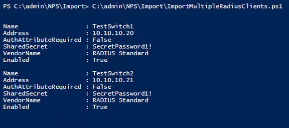 Neue RADIUS-Clients mit PowerShell auf Basis einer CSV-Datei erstellen.