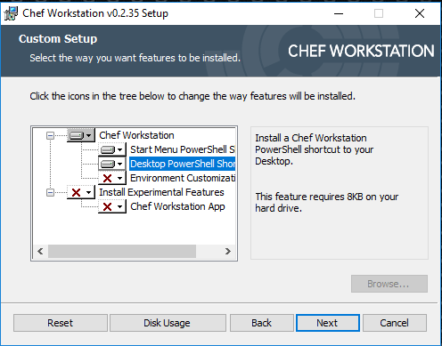 Installation einer Chef-Workstation unter Windows