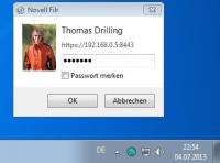 Anmelden am Windows-Client von Filr