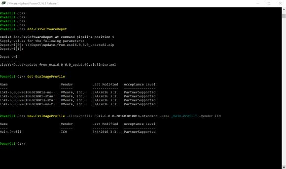 Bundle zu Depot hinzufügen und Profil klonen mit dem Image Builder.