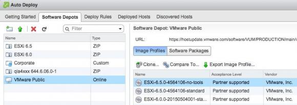 Mit der neuen UI lassen sich ZIP-Depots und Treiben hochladen oder Online-Depots erstellen.