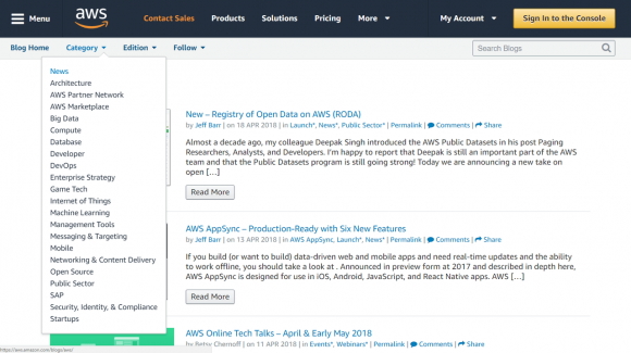 Blogs zu den Amazon Web Services