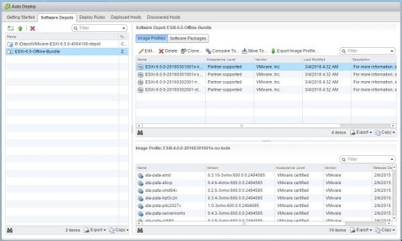 Der neue vSphere Client zeigt alle in einem Image enthaltenen VIBs.