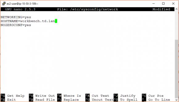 Hostname in der Datei /etc/sysconfig/network anpassen