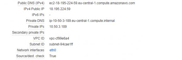 Vorgegebene Hostnames für EC-Instanzen