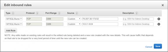 Neue Regel für Port 3306 hinzufügen, um die Verbindung durch den MySQL-Client zu erlauben.