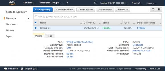 Neues Gateway in der AWS-Konsole anlegen
