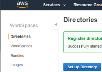 Active Directory für AWS WorkSpaces registrieren