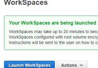 Neuen AWS WorkSpace einrichten