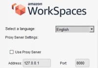 Erweiterte Einstellungen für den WorkSpaces-Client