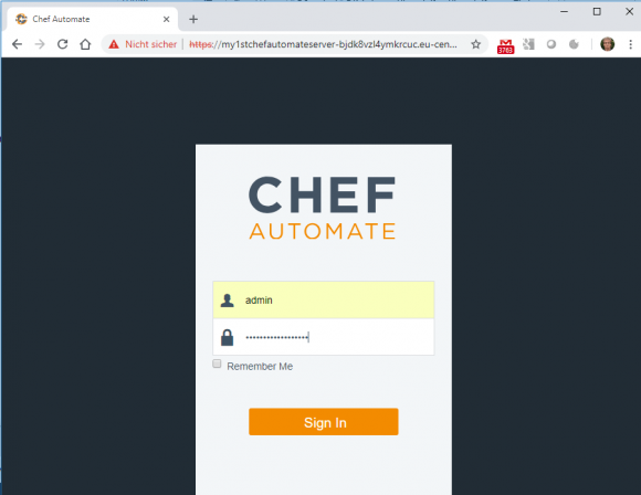 Anmelden an Chef Automate