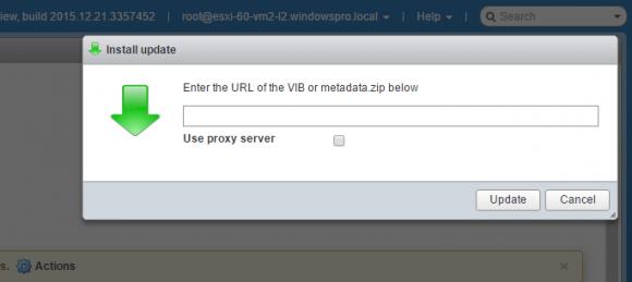 Die Update-Funktion des Hosts-Clients kann auch ein Upgrade für den Hypervisor installieren.