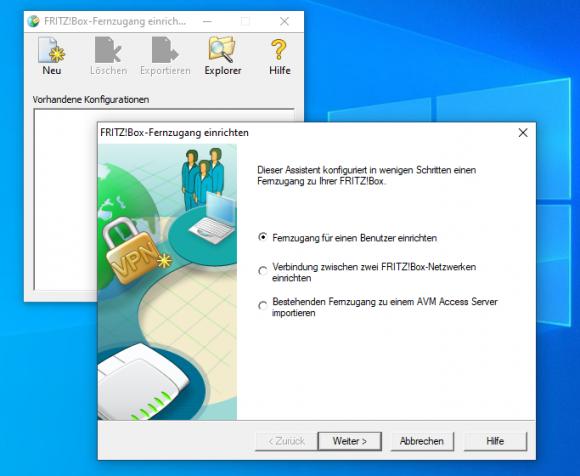Start configuration for the VPN client