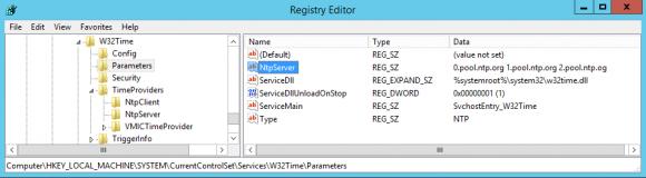 Externen NTP-Server für den Domänen-Controller in die Registry eintragen.