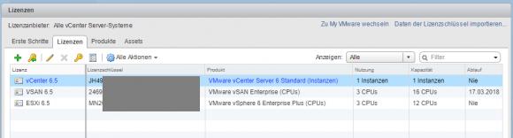 Der Lizenz-Manager in vCenter gehört zu den Funktionen des Platform Service Controllers.