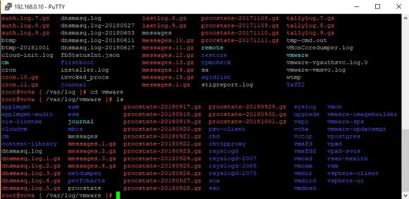 Wenn man Log-Dateien löschen möchte, dann finden sich diese unter /var/log/vmware