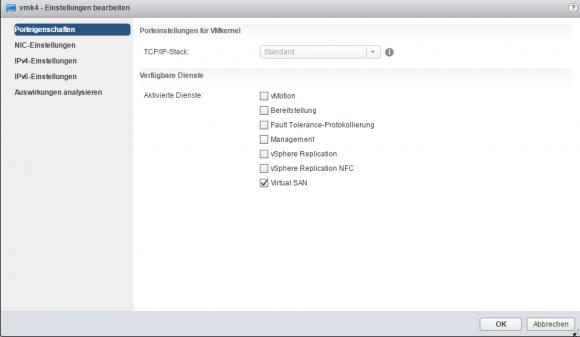 VMkernel-Adapter für vSAN auf jedem Host erzeugen