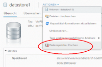 Datastore im vSphere Web Client entfernen