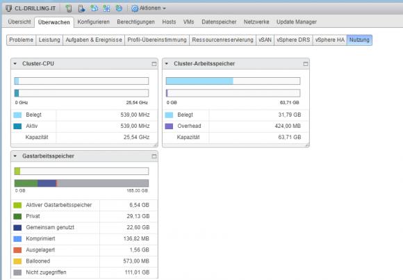 Pooling von Cluster-Ressourcen wie CPU und Arbeitsspeicher