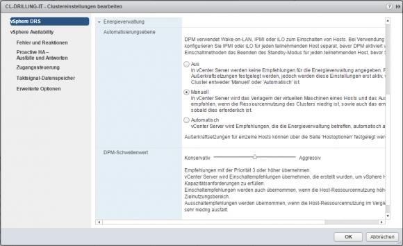 Automatisierungsebenen für DPM