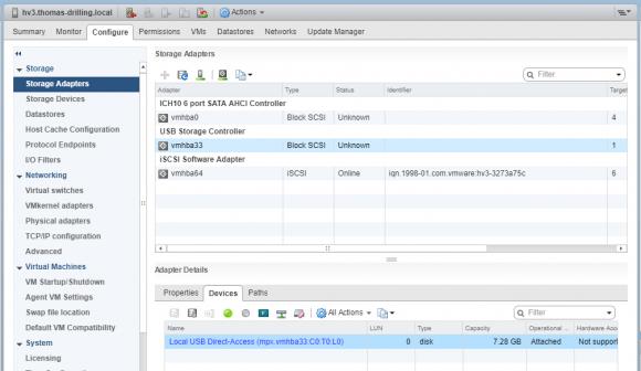 USB-Geräte im vSphere Web Client