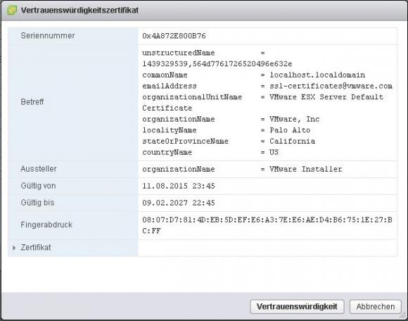Zertifikat des KMS-Servers als vertrauenswürdig akzeptieren