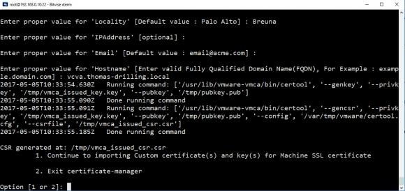 Zertifikatsanforderung erstellen mit certificate-manager