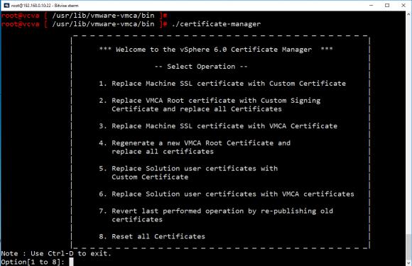 Maschinen-Zertifikate ersetzen mit dem CLI-Tool certificate-manager