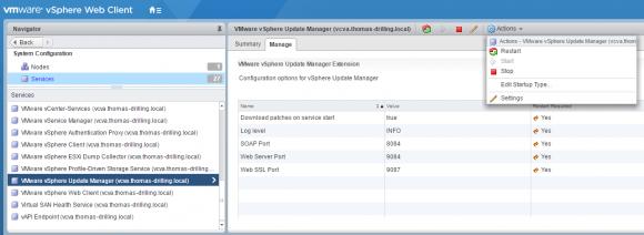 Übersicht über die Vorgabe-Ports für vSphere Update Manager.