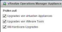Virtual Appliances mit VUM aktualisieren