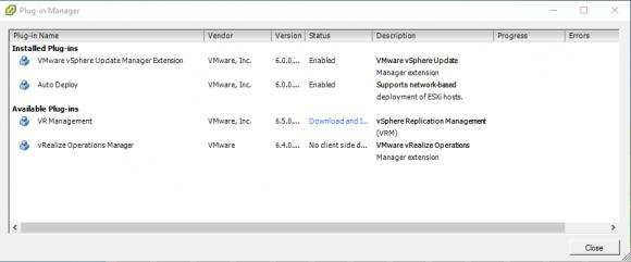 Die GUI für den vSphere Update Manager im alten C#-Client