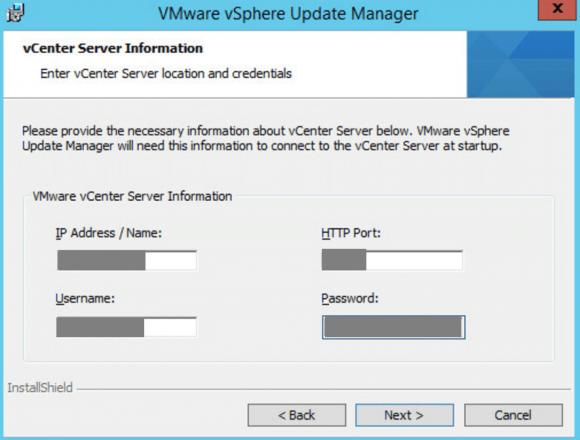 vSphere Update Manager mit vCenter verbinden