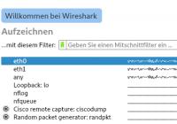Traffic mitschneiden mit Wireshark