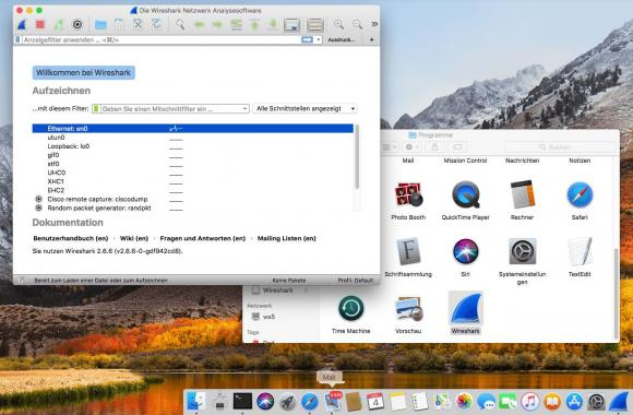 Wireshark für macOS aus dem Finder starten