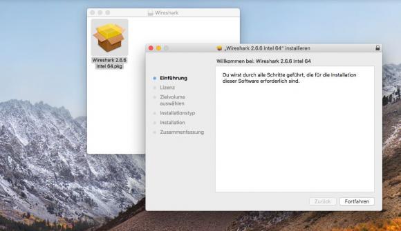 Wireshark-Setup unter macOS